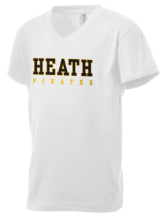 Heath Elementary School Pirates Kid's V-Neck Jersey T-Shirt