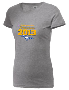 Big Creek Elementary School Roadrunners  Russell Women's Campus T-Shirt