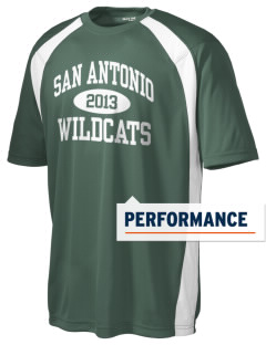 San Antonio Union School Wildcats Men's Dry Zone Colorblock T-Shirt