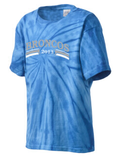 Barnard-White Middle School Broncos Kid's Tie-Dye T-Shirt
