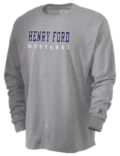Henry Ford Elementary School Mustangs  Russell Men's Long Sleeve T-Shirt