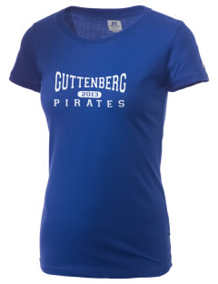 Guttenberg Elementary School Pirates  Russell Women's Campus T-Shirt