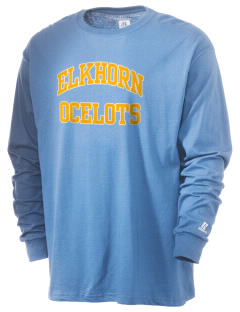 Elkhorn School Ocelots  Russell Men's Long Sleeve T-Shirt