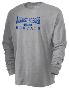 August Boeger Junior High School Bobcats  Russell Men's Long Sleeve T-Shirt