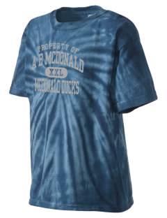 A B McDonald Elementary School McDonald Ducks Kid's Tie-Dye T-Shirt