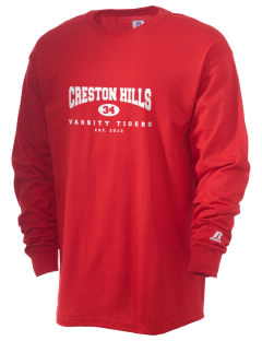 Creston Hills Elementary School Tigers  Russell Men's Long Sleeve T-Shirt