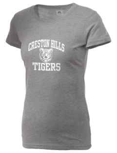 Creston Hills Elementary School Tigers  Russell Women's Campus T-Shirt