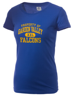 Garden Valley Elementary School Falcons  Russell Women's Campus T-Shirt
