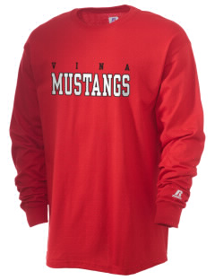 Vina Elementary School Mustangs  Russell Men's Long Sleeve T-Shirt