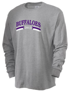Fort Bridger Elementary School Buffaloes  Russell Men's Long Sleeve T-Shirt