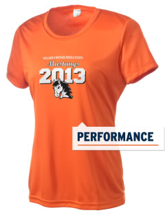 William G Mather Middle School Mustangs Women's Competitor Performance T-Shirt