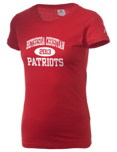 Bethesda Christian School Patriots  Russell Women's Campus T-Shirt