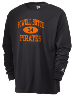 Powell Butte Elementary School Pirates  Russell Men's Long Sleeve T-Shirt
