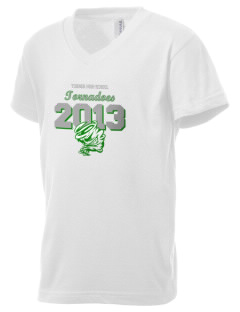 Turner High School Tornadoes Kid's V-Neck Jersey T-Shirt