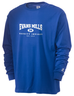 Evans Mills Primary School Indians  Russell Men's Long Sleeve T-Shirt