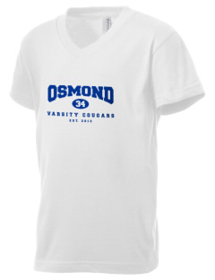 Osmond Elementary School Cougars Kid's V-Neck Jersey T-Shirt