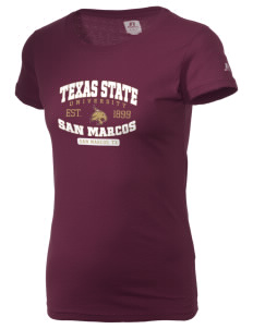 Texas state university san marcos bobcats russell women for Custom t shirts san marcos tx