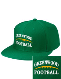 Sport a cool custom pro look, for yourself or the whole team, with this Greenwood Community High School Woodmen fitted embroidered cap. The Greenwood Community High School Woodmen sportswear hat is made from innovative poly-wool performance fabric with black underbill and a fiber-tech visor board that is flat as can be, allowing you to bend it -- or not -- however you like your merchandise.