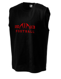 The perfect in-between custom Rye High School Garnets sleeveless crewneck T-Shirt.  The Rye High School Garnets sleeveless tee is preshrunk with double-needle stitching on neck, and hemmed armholes.  Ash color is 99% cotton, 1% polyester.  Sport Grey is 90% cotton, 10% polyester.