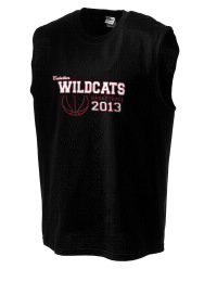 The perfect in-between custom Calallen High School Wildcats sleeveless crewneck T-Shirt.  The Calallen High School Wildcats sleeveless tee is preshrunk with double-needle stitching on neck, and hemmed armholes.  Ash color is 99% cotton, 1% polyester.  Sport Grey is 90% cotton, 10% polyester.