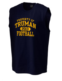 The perfect in-between custom Truman High School Blue Jays sleeveless crewneck T-Shirt.  The Truman High School Blue Jays sleeveless tee is preshrunk with double-needle stitching on neck, and hemmed armholes.  Ash color is 99% cotton, 1% polyester.  Sport Grey is 90% cotton, 10% polyester.