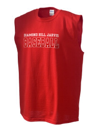 The perfect in-between custom Diamond Hill Jarvis High School Eagles sleeveless crewneck T-Shirt.  The Diamond Hill Jarvis High School Eagles sleeveless tee is preshrunk with double-needle stitching on neck, and hemmed armholes.  Ash color is 99% cotton, 1% polyester.  Sport Grey is 90% cotton, 10% polyester.