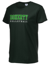 Ultra cotton comfort for the softest feel against your skin. The Doherty High School Spartans crewneck T-shirt features a seamless collar for added comfort.