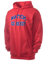 Crafted for comfort, this lighter weight Natick High School Redhawks hooded sweatshirt is perfect for relaxing and it's a real value for a sportswear hoody. A must have for the serious Natick High School Redhawks apparel and merchandise collection. 50/50 cotton/poly fleece hoodie with two-ply hood, dyed-to-match drawcord, set-in sleeves, and front pouch pocket round out the features of a Redhawks hooded sweatshirt.