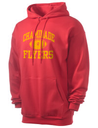 Crafted for comfort, this lighter weight Chaminade High School Flyers hooded sweatshirt is perfect for relaxing and it's a real value for a sportswear hoody. A must have for the serious Chaminade High School Flyers apparel and merchandise collection. 50/50 cotton/poly fleece hoodie with two-ply hood, dyed-to-match drawcord, set-in sleeves, and front pouch pocket round out the features of a Flyers hooded sweatshirt.