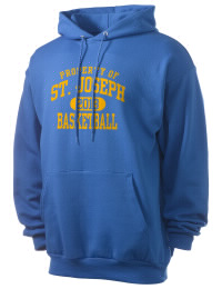 Crafted for comfort, this lighter weight Saint Joseph High School Lancers hooded sweatshirt is perfect for relaxing and it's a real value for a sportswear hoody. A must have for the serious Saint Joseph High School Lancers apparel and merchandise collection. 50/50 cotton/poly fleece hoodie with two-ply hood, dyed-to-match drawcord, set-in sleeves, and front pouch pocket round out the features of a Lancers hooded sweatshirt.