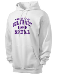 Crafted for comfort, this lighter weight Bellevue West High School Thunderbirds hooded sweatshirt is perfect for relaxing and it's a real value for a sportswear hoody. A must have for the serious Bellevue West High School Thunderbirds apparel and merchandise collection. 50/50 cotton/poly fleece hoodie with two-ply hood, dyed-to-match drawcord, set-in sleeves, and front pouch pocket round out the features of a Thunderbirds hooded sweatshirt.