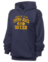 Crafted for comfort, this lighter weight Totino-Grace High School Eagles hooded sweatshirt is perfect for relaxing and it's a real value for a sportswear hoody. A must have for the serious Totino-Grace High School Eagles apparel and merchandise collection. 50/50 cotton/poly fleece hoodie with two-ply hood, dyed-to-match drawcord, set-in sleeves, and front pouch pocket round out the features of a Eagles hooded sweatshirt.