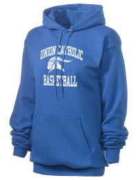 Crafted for comfort, this lighter weight Union Catholic Regional High School Vikings hooded sweatshirt is perfect for relaxing and it's a real value for a sportswear hoody. A must have for the serious Union Catholic Regional High School Vikings apparel and merchandise collection. 50/50 cotton/poly fleece hoodie with two-ply hood, dyed-to-match drawcord, set-in sleeves, and front pouch pocket round out the features of a Vikings hooded sweatshirt.