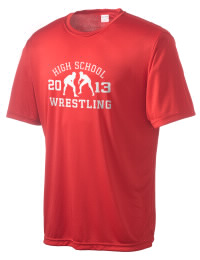 Take on your opponents in maximum comfort in this performance t-shirt. The A H S T Community High School Vikings Competitor crewneck T-Shirt is lightweight and offers a roomy, athletic look and helps control moisture.