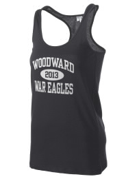 The Woodward Academy War Eagles District Threads Racerback Tank is semi-fitted for a flattering look and perfect for layering. Racerback detail lends casual, athletic style.