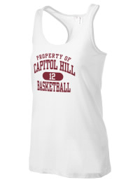 The Capitol Hill High School Redskins District Threads Racerback Tank is semi-fitted for a flattering look and perfect for layering. Racerback detail lends casual, athletic style.