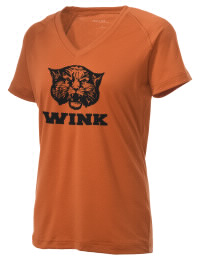 The Ladies Ultimate Performance V-Neck Wink High School Wildcats tee is perfect for your active lifestyle.  The V-neck performance t-shirt is made with moisture wicking fabric and has a soft, cotton-like feel. This layerable Wink High School Wildcats V-neck tee is sure to become a favorite on and off the court.