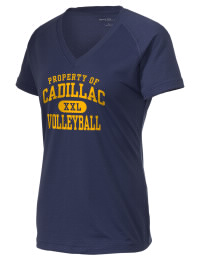The Ladies Ultimate Performance V-Neck Cadillac High School Vikings tee is perfect for your active lifestyle.  The V-neck performance t-shirt is made with moisture wicking fabric and has a soft, cotton-like feel. This layerable Cadillac High School Vikings V-neck tee is sure to become a favorite on and off the court.