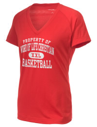 The Ladies Ultimate Performance V-Neck Word Of Life Christian Academy Ambassadors tee is perfect for your active lifestyle.  The V-neck performance t-shirt is made with moisture wicking fabric and has a soft, cotton-like feel. This layerable Word Of Life Christian Academy Ambassadors V-neck tee is sure to become a favorite on and off the court.