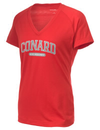 The Ladies Ultimate Performance V-Neck Conard High School Chieftains tee is perfect for your active lifestyle.  The V-neck performance t-shirt is made with moisture wicking fabric and has a soft, cotton-like feel. This layerable Conard High School Chieftains V-neck tee is sure to become a favorite on and off the court.