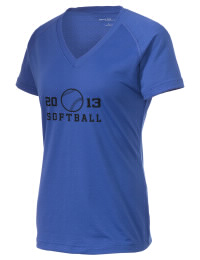 The Ladies Ultimate Performance V-Neck Aquinas High School Falcons tee is perfect for your active lifestyle.  The V-neck performance t-shirt is made with moisture wicking fabric and has a soft, cotton-like feel. This layerable Aquinas High School Falcons V-neck tee is sure to become a favorite on and off the court.