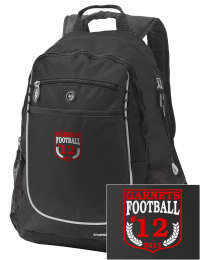 A go-anywhere Rye High School Garnets backpack design in a streamlined size that's engineered to hold all the essentials in place. Convenient dual-side mesh water bottle pockets, and front pocket with organizer panel. Great for Rye High School Garnets fan gear.