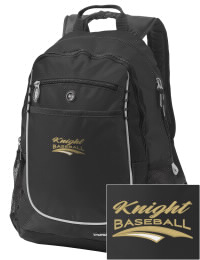 A go-anywhere Knight High School Hawks backpack design in a streamlined size that's engineered to hold all the essentials in place. Convenient dual-side mesh water bottle pockets, and front pocket with organizer panel. Great for Knight High School Hawks fan gear.