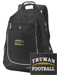 A go-anywhere Truman High School Blue Jays backpack design in a streamlined size that's engineered to hold all the essentials in place. Convenient dual-side mesh water bottle pockets, and front pocket with organizer panel. Great for Truman High School Blue Jays fan gear.