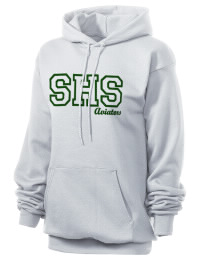 Crafted for comfort, this lighter weight embroidered Sycamore High School Aviators hooded sweatshirt is perfect for relaxing.  A must have hoody for the serious Sycamore High School Aviators apparel and merchandise collection. 50/50 cotton/poly fleece hoodie with two-ply hood, dyed-to-match drawcord, set-in sleeves, and front pouch pocket round out the features of a Aviators hooded sweatshirt.