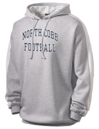Get a little two-tone style with this custom tackle twill North Cobb High School Warriors hoodie. It's colorfast so it will look sharp wash after wash, and it resists shrinking so it will keep its roomy fit. The sleeve stripe helps it stand apart from the rest of the hoodies in the crowd.