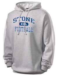 Get a little two-tone style with this custom tackle twill Stone High School Tomcats hoodie. It's colorfast so it will look sharp wash after wash, and it resists shrinking so it will keep its roomy fit. The sleeve stripe helps it stand apart from the rest of the hoodies in the crowd.