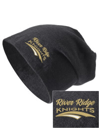 On the street or on the slopes, stay warm and look cool in this River Ridge High School Knights knit hat. An acyrlic/polyester blend beanie with a snug yet slouchy fit. Embroidery will not be on center front, but off centered to the left.