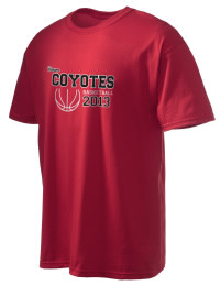This custom Tatum High School Coyotes crewneck t-shirt with a seamless collar turns a classic into an ultra comfortable apparel choice. Customize this t-shirt with your favorite Coyotes design and personalize with your Tatum High School Coyotes year. Choose your custom design for your tee and wear this customized t-shirt proudly.