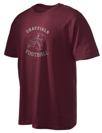 This custom Chatfield Senior High School Chargers crewneck t-shirt with a seamless collar turns a classic into an ultra comfortable apparel choice. Customize this t-shirt with your favorite Chargers design and personalize with your Chatfield Senior High School Chargers year. Choose your custom design for your tee and wear this customized t-shirt proudly.